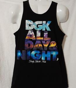 Dgk All Day & Night Tank Top Shirt Size Medium